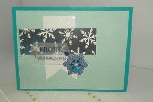 Weihnachtskarte in Blau