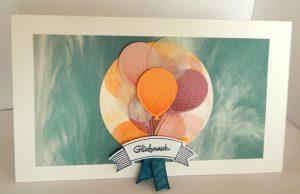 Gbeurtstagskarte mit Ballons