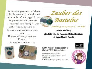Flyer zur Make & Take Katalogvorstellung