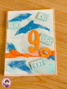 Geburtstagskarte zum 09. Geburtstag