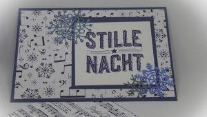 Stille Nacht Karte mit Schneeflocken